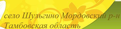 Село Шульгино Мордовский район Тамбовская область